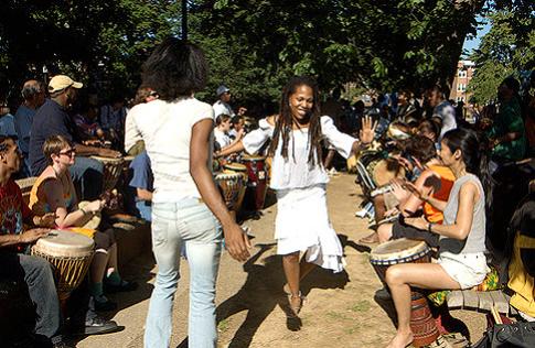 Meridian Hill Park Drum Circle