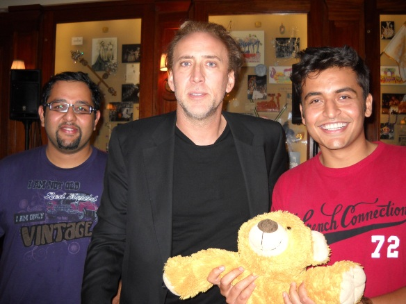 A friend, Nic Cage, a teddy bear, and Yuri