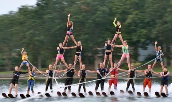 The Carolina Show Ski Team on Lake Wylie. photo credit: carolinashowski.com