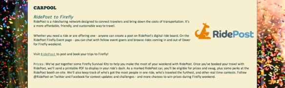 RidePost to Firefly