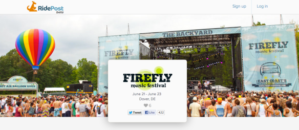 Book your trips to and from Firefly with RidePost! Visit www.RidePost.com/events/2